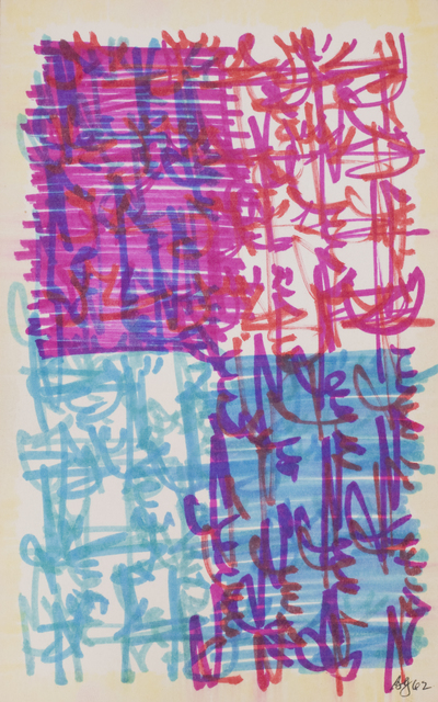 Brion Gysin, 'Through the window of my room at Peggy Guggenheim  Palazzo Venier dei Leoni ', 1962, October Gallery
