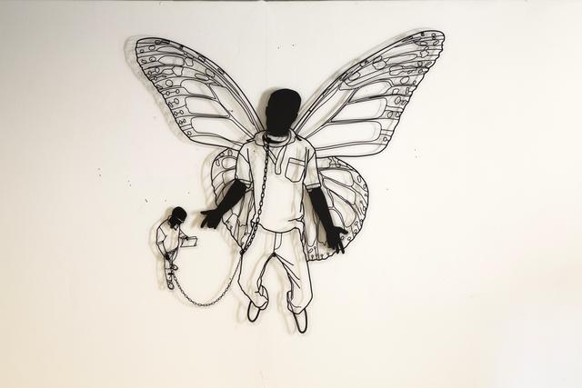 Frank Plant, '''Walking the Butterfly'', 2015, Sculpture, Painted steel, SODA