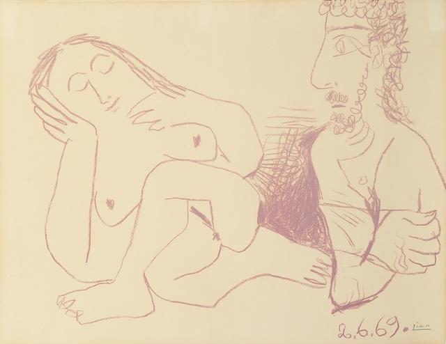 , 'Buste d'homme et femme nus, 2 June 1969,' 1969, Opera Gallery