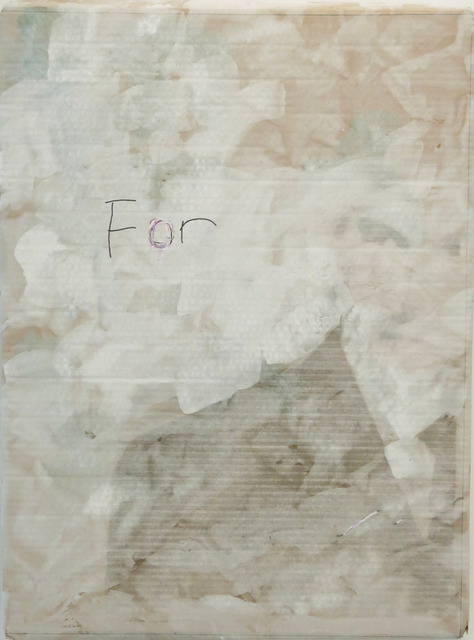 , 'For,' 2014, Jane Lombard Gallery