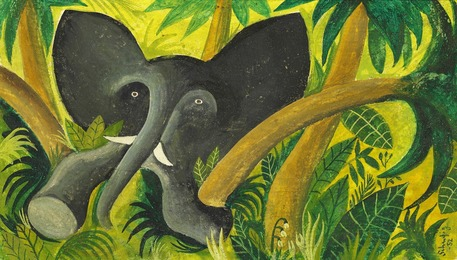 Jungle with Elephant