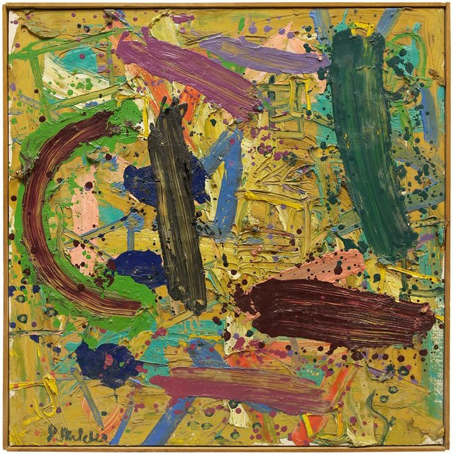 Jay Milder, 'Untitled Abstract Composition, Expressionist Oil Painting', Lions Gallery