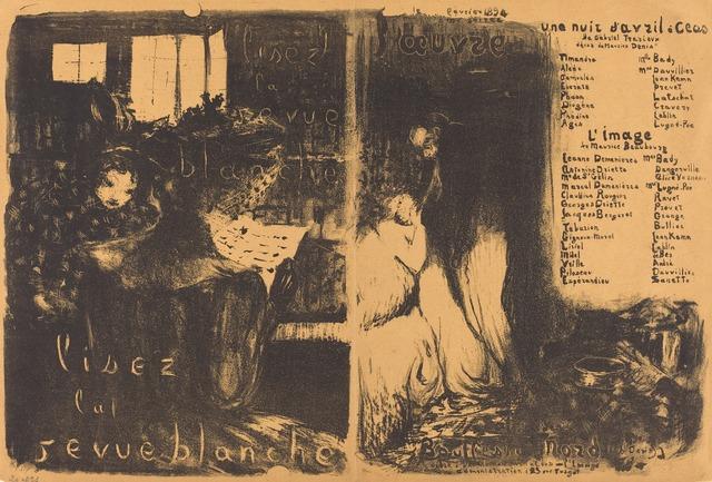 Édouard Vuillard, 'Lisez la revue blanche;  Un nuit d'Avril Ceos, L'image', 1894, National Gallery of Art, Washington, D.C.