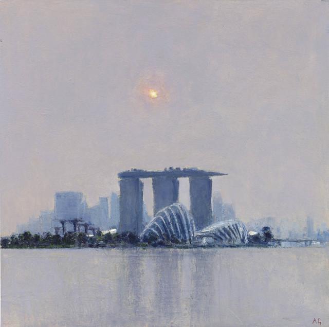 , 'Across Marina Bay, Mid Afternoon Haze,' 2015, John Martin Gallery