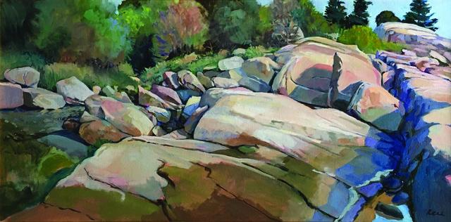 , 'Rocks of My Childhood, Annisquam MA,' 2015-2019, Copley Society of Art