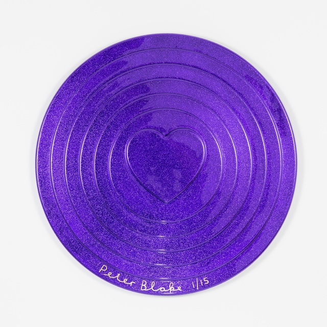 , 'Purple Target (metal flake),' 2017, Paul Stolper Gallery