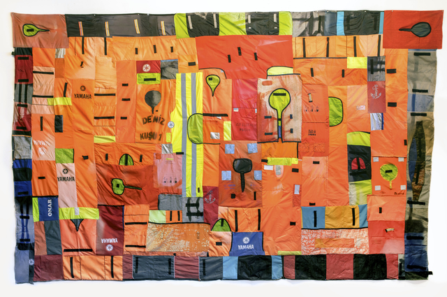 , 'Flags of Lesvos (anamnesis),' 2017, HATHAWAY | Contemporary Gallery