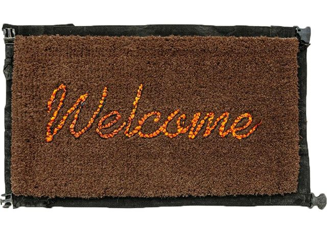 Banksy, 'Welcome Mat', 2019, Sculpture, Hand-stitched welcome mat using the fabric from life vests abandoned on the beaches of the Mediterranean, Lougher Contemporary