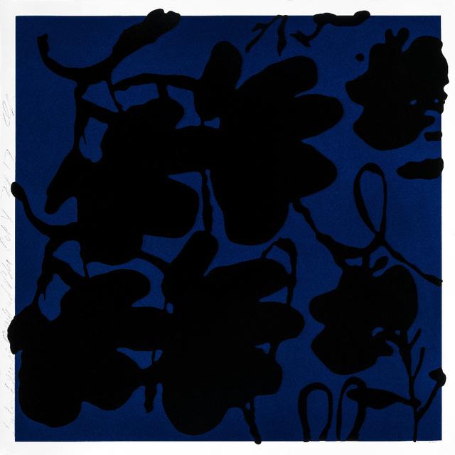 , 'Lantern Flowers, Black and Blue,' 2017, Maune Contemporary
