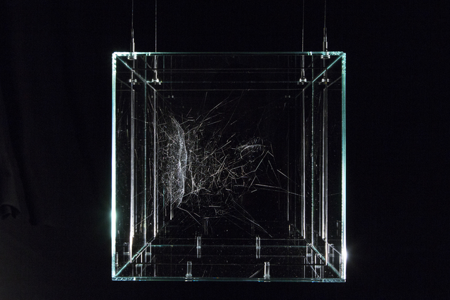 Tomás Saraceno, 'Hybrid semi-social solitary 37 Cassiopeiae built by: a duet of Cyrtophora citricola - two weeks, a solo Lariniodes sclopetarius - one week, rotated 90°', 2018, Tanya Bonakdar Gallery