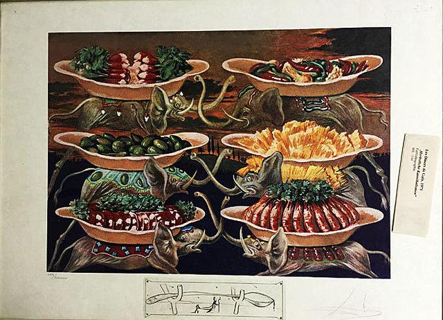 Salvador Dalí, 'Dinner-for-gala Autumnal Cannibalism', Galerie Artpark Karlsruhe