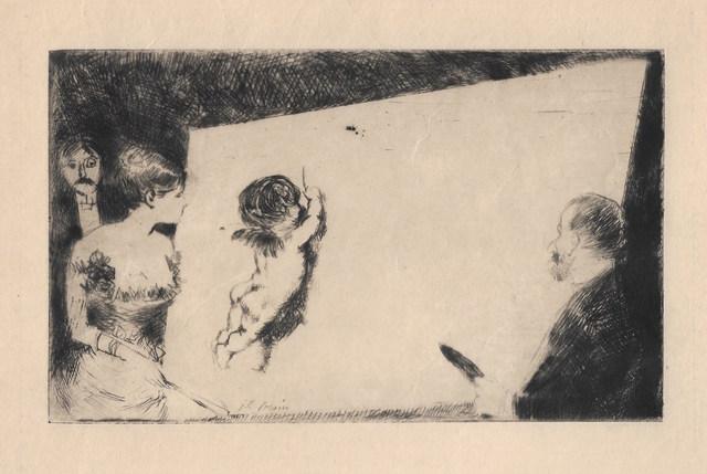 "Jean-Louis Forain, 'Invitation du ""Monde Parisien""', 1879, Sylvan Cole Gallery"