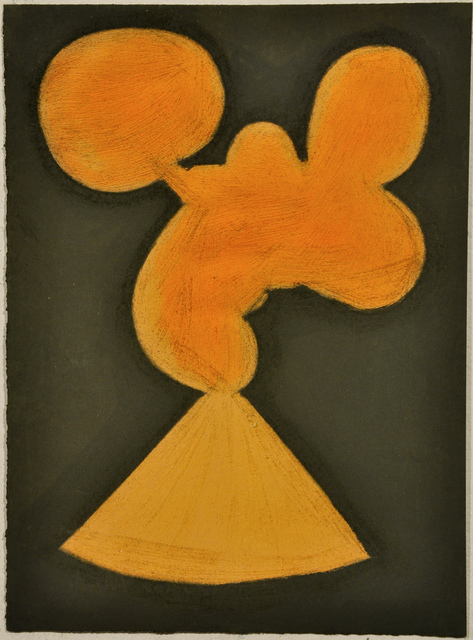 , 'Untitled (Abstracted Orange Shape and Khaki),' 2010, Fleisher/Ollman