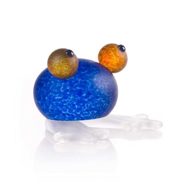 Borowski Glass, 'Frosch/Frog Paperweight: 24-01-53 in Blue', 2018, Art Leaders Gallery