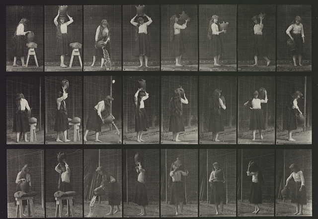 Eadweard Muybridge, 'Plate 517. Miscellaneous movements with a water-jar.', 1887, Laurence Miller Gallery