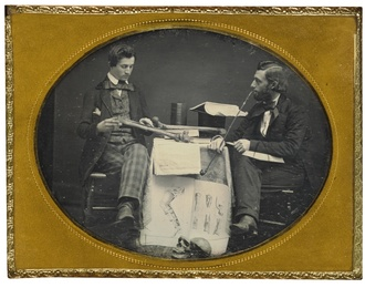 Dr. Charles Linnaeus Allen Studying Anatomy with Student