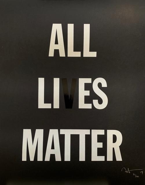 Hank Willis Thomas, 'All Li es Matter', 2019, Print, Screenprint on paper, Artsy x Capsule Auctions