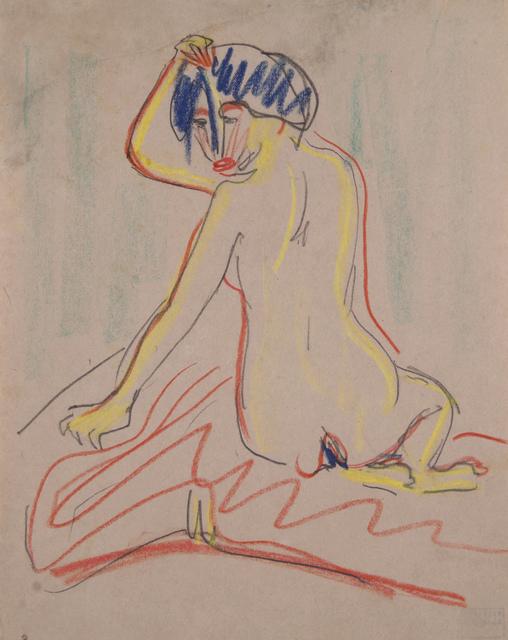 Ernst Ludwig Kirchner, 'Sich umwendender sitzender Akt', ca. 1908, Henze & Ketterer