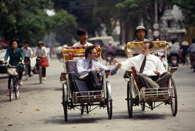 , 'Businessmen on Hanoi Cyclos,' 1994, Art Vietnam Gallery