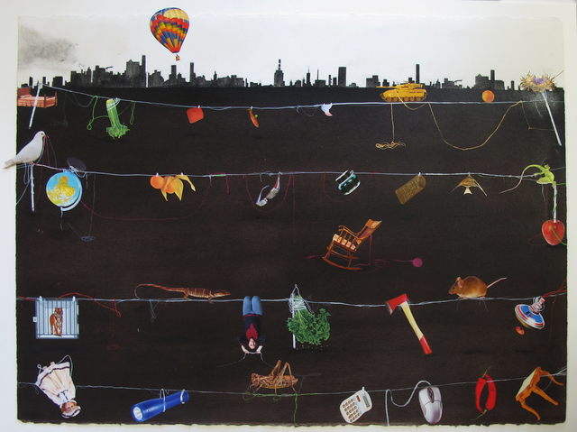 Hema Upadhyay, 'Extra-Ordinary', 2012, Drawing, Collage or other Work on Paper, Mixed media on paper, Gallery Odyssey