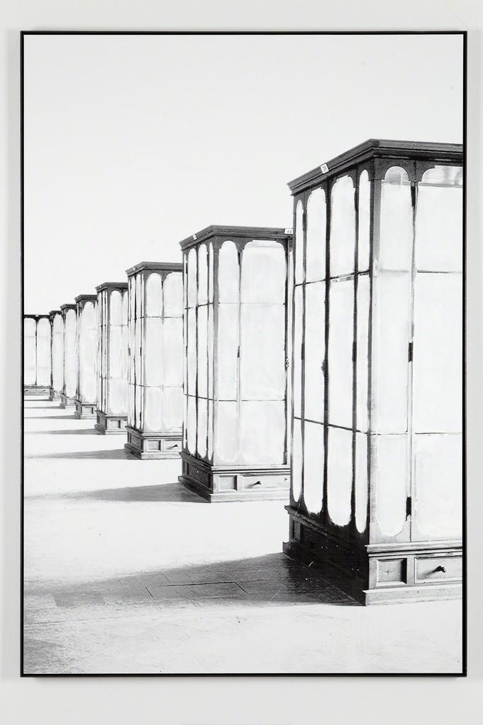 Daniel Poller, »Hörsäle, Philosophie, Geschichte«, 2017, erased pigment print, 160 x 110 cm, unique, from the series: Der große Gewinn, solo show, G2 Projektraum // G2 Kunsthalle Leipzig, 13 Oct – 1 Nov 2017 © the artist
