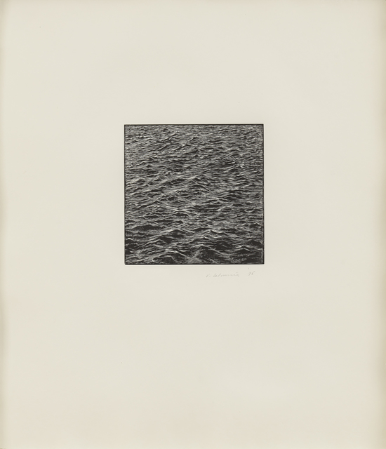 , 'Untitled (Ocean Woodcut),' 1995, Susan Sheehan Gallery