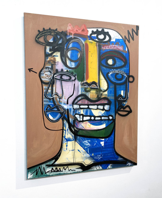Clarence James, 'I Can Tell', 2021, Painting, Acrylic, aerosol, oil stick on canvas, DTR Modern Galleries