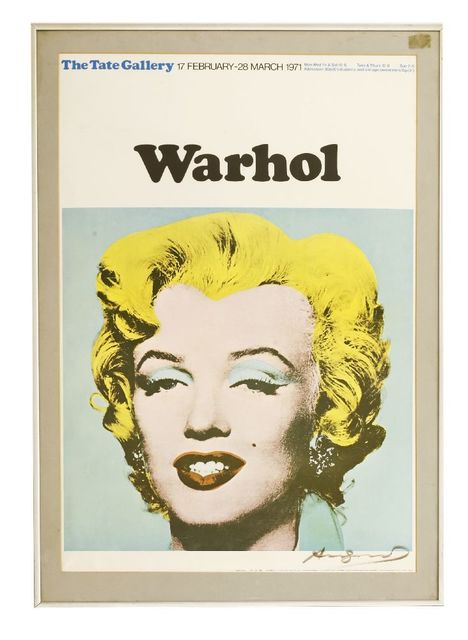 Andy Warhol, 'EXHIBITION POSTER, for 1971 exhibition', Sworders