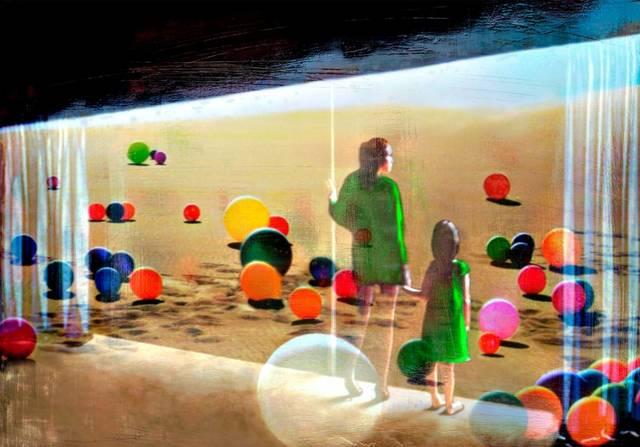 , 'Il deserto dei ricordi smarriti,' 2012, Liquid art system