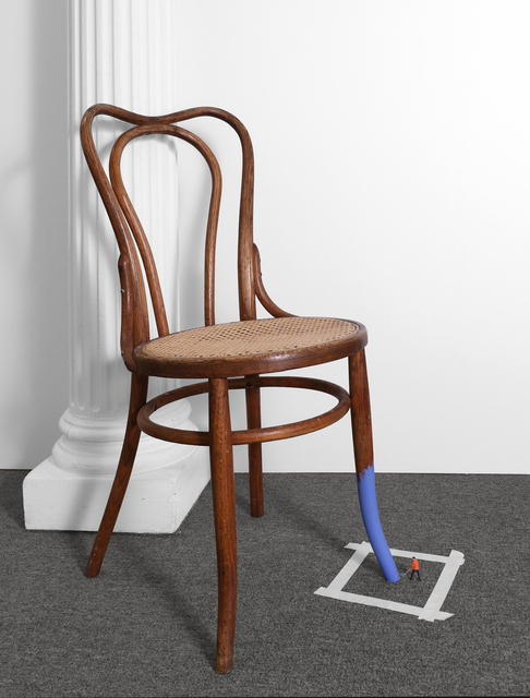 Liliana Porter, 'Untitled (man painting chair II)', 2016, Krakow Witkin Gallery
