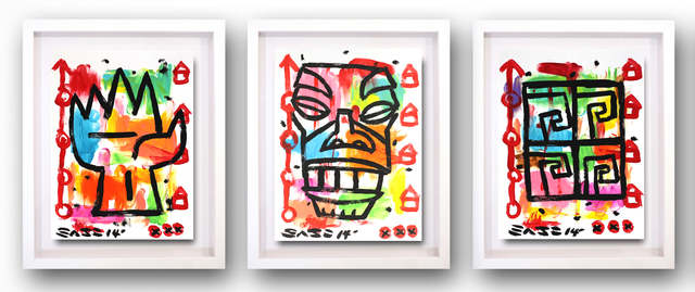 Gary John, 'Tiki Triptych (framed)', 2014, Artspace Warehouse