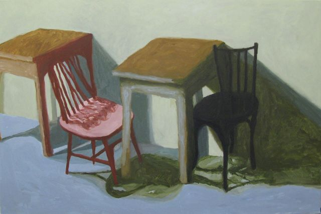 , 'Pink Chair, Black Chair,' 2015, The Biscuit Factory