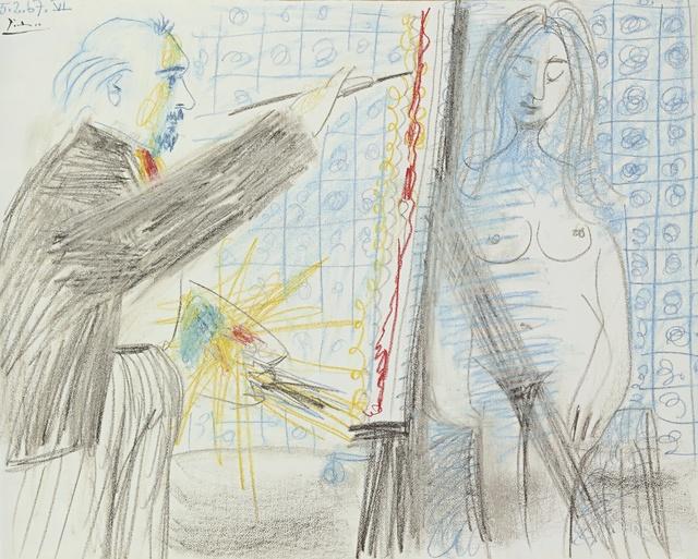 , 'Le peintre et son modèle,' 1967, Galerie Boulakia