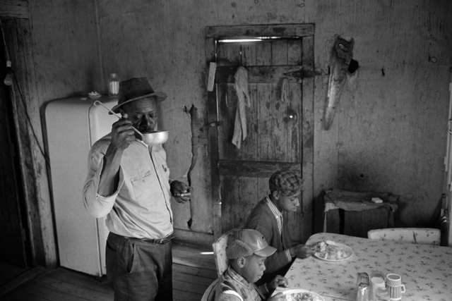 Constantine Manos, 'Untitled, Sharecroppers, South Carolina (interior, man drink from a ladle 2 children)', 1965, Robert Klein Gallery