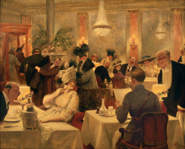 , 'L'Entente Coriale - Hommage to a Soldier Dining - Belle Epoque,' ca. 1910, Omnibus Gallery