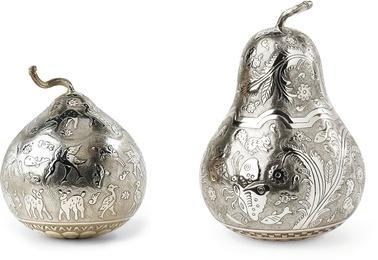 Dos bules de plata