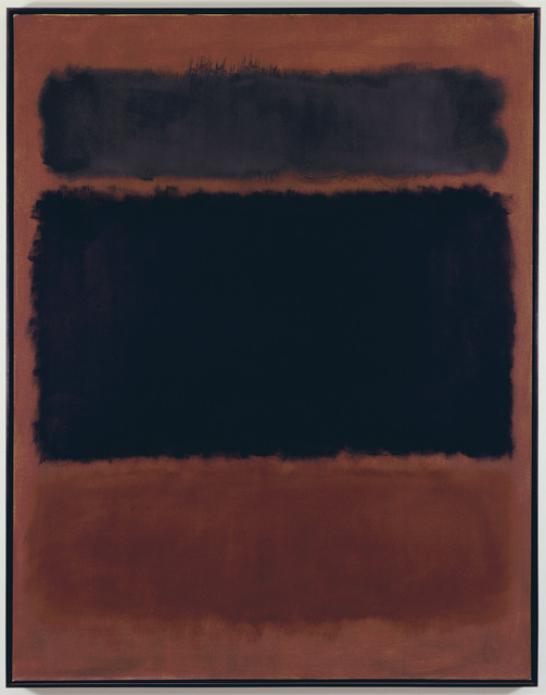 , 'Black in Deep Red,' 1957, Pace Gallery