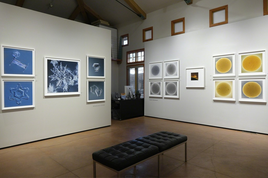 FIRE AND ICE, images by Alan Friedman and Douglas Levere – installed at photo-eye Gallery.