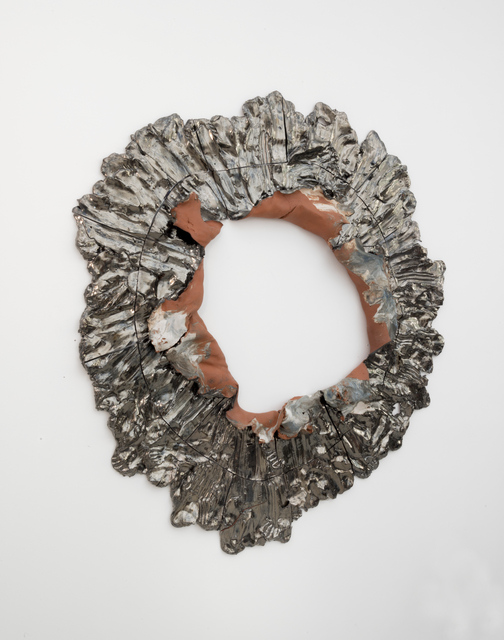 ", '""Torn Hole, 132lbs (Blue)"",' 2014, Galerie Lefebvre & fils"