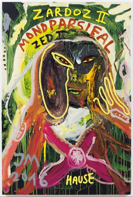 ", '""SORRY, ABER MEIN RICHTIGER NAME IST DOC DJIFFI DE CRYREUTH, SORRY, ABER SO IST'S..."",' 2016, Galerie Krinzinger"