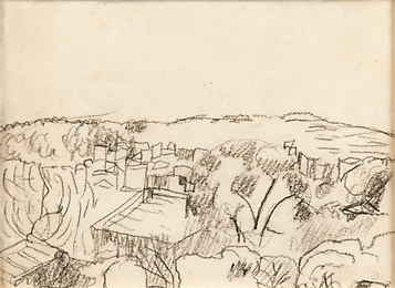 Untitled (Southern Landscape with House and Trees)