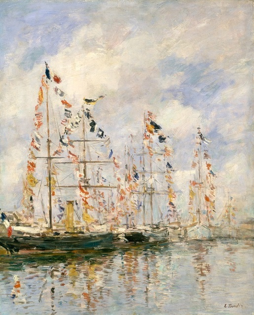 , 'Yacht Basin at Trouville - Deauville ,' 1895-1896, Seattle Art Museum