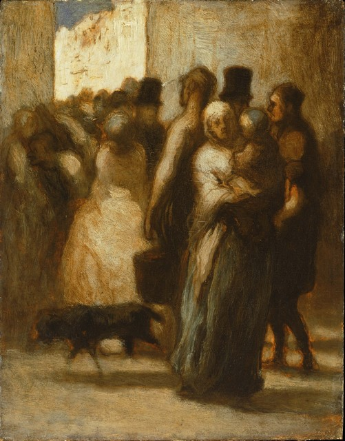 Honoré Daumier, 'To the Street', 1840s, Phillips Collection