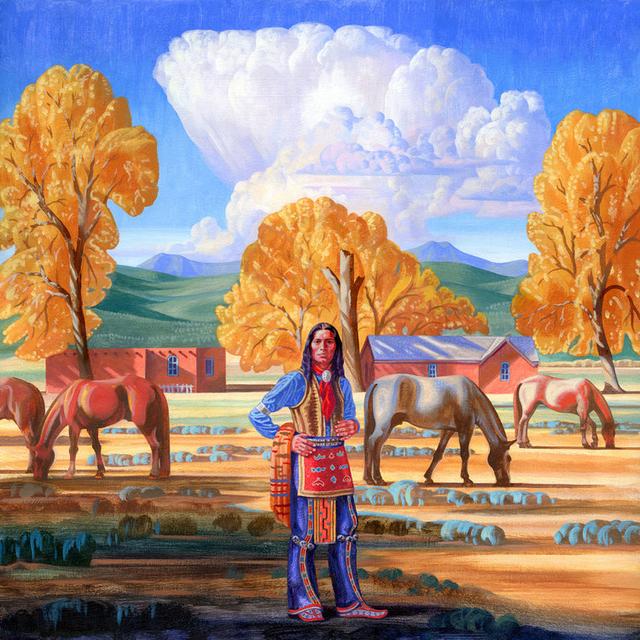 ", '""Adobe in the Cottonwoods"",' 2018, Maxwell Alexander Gallery"