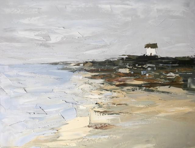 Sandra Pratt, 'Coastline House', 2019, Painting, Oil on Canvas, Vail International Gallery