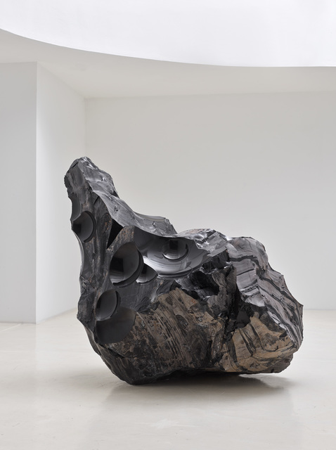Julian Charrière, 'Thickens, pools, flows, rushes, slows', 2020, Sculpture, Obsidian block, Sies + Höke