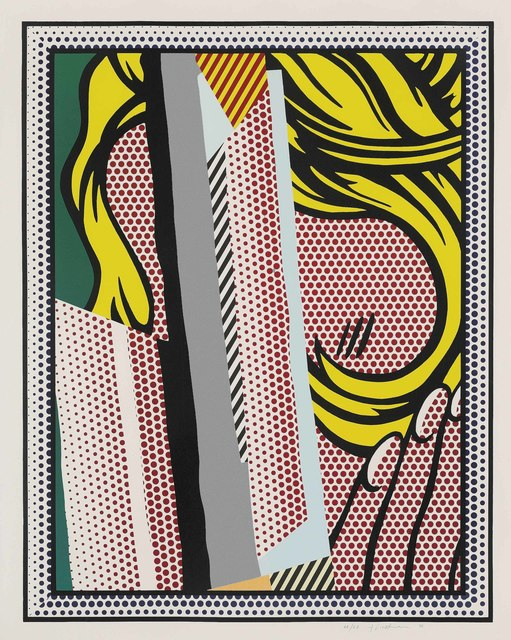 Roy Lichtenstein, 'Reflections on Hair, from: Reflections Series', 1990, Print, Lithograph, screenprint and woodcut in colours, with metalized PVC collage with embossing on Somerset paper, Christie's