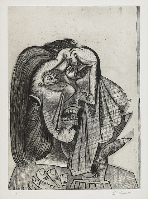 , 'Weeping Woman,' 1937, Vancouver Art Gallery