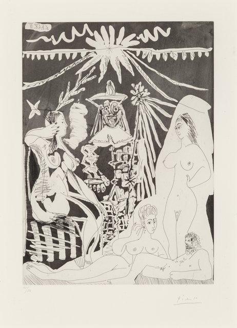 Pablo Picasso, 'Homme allongé, avec deux femmes, from Seriés 347', 1968, Print, Aquatint with etching on wove paper, Heritage Auctions