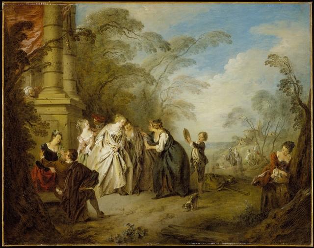 Jean-Baptiste Joseph Pater, 'La Bonne Aventure (The Fortune Teller)', 1731, Los Angeles County Museum of Art